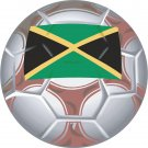 Jamaica Soccer Ball Flag Wall Decal