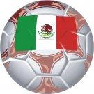 Mexico Soccer Ball Flag Wall Decal