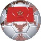 Morocco Soccer Ball Flag Wall Decal