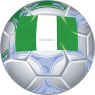 Nigeria Soccer Ball Flag Wall Decal