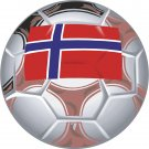 Norway Soccer Ball Flag Wall Decal