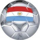 Paraguay Soccer Ball Flag Wall Decal