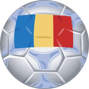 Romania Soccer Ball Flag Wall Decal