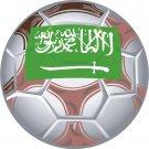 Saudi Arabia Soccer Ball Flag Wall Decal