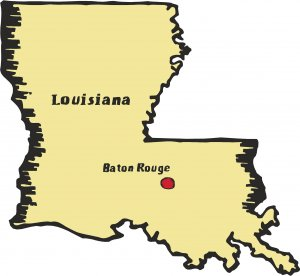Louisiana State Map Wall Decal