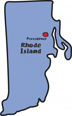 Rhode Island State Map Wall Decal