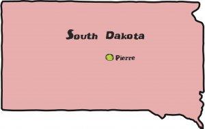 South Dakota State Map Wall Decal