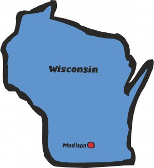Wisconsin State Map Wall Decal