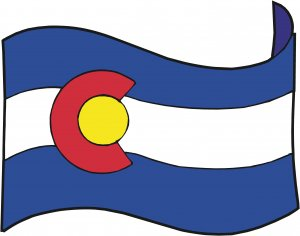 Colorado State Flag Wall Decal