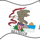 Illinois State Flag Wall Decal