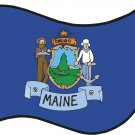 Maine State Flag Wall Decal