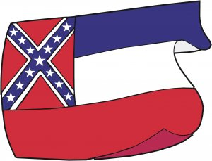 Mississippi State Flag Wall Decal