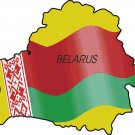 Belarus Country Map Flag Wall Decal