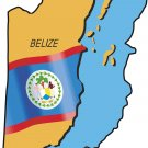 Belize Country Map Flag Wall Decal