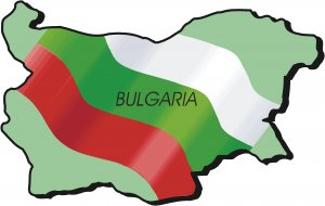 Bulgaria Country Map Flag Wall Decal