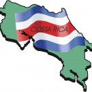 Costa Rica Country Map Flag Wall Decal