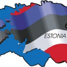 Estonia Country Map Flag Wall Decal