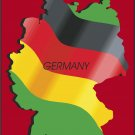Germany Country Map Flag Wall Decal
