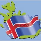 Iceland Country Map Flag Wall Decal