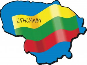 Lithuania Country Map Flag Wall Decal