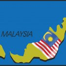 Malaysia Country Map Flag Wall Decal