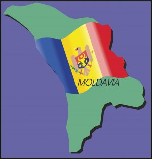 Moldavia Country Map Flag Wall Decal