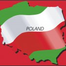 Poland Country Map Flag Wall Decal