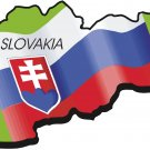 Slovakia Country Map Flag Wall Decal