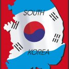 South Korea Country Map Flag Wall Decal
