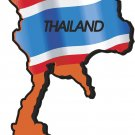 Thailand Country Map Flag Wall Decal