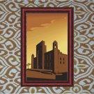 Mosque Sunset Vector Art on Canvas