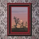 Drylands Sunset Vector Art on Canvas