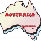 Australia Country Map Wall Decal