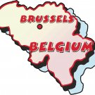 Belgium Country Map Wall Decal