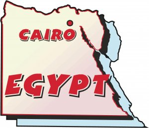 Egypt Country Map Wall Decal