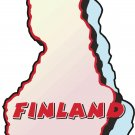 Finland Country Map Wall Decal