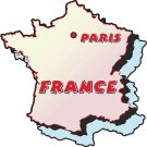 France Country Map Wall Decal