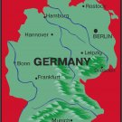 Germany Realistic Country Map Wall Decal