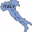 Italy Realistic Country Map Wall Decal