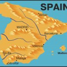 Spain Realistic Country Map Wall Decal