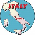 Italy Country Map Wall Decal