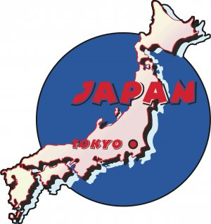 Japan Country Map Wall Decal
