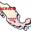 Mexico Country Map Wall Decal