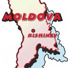 Moldova Country Map Wall Decal