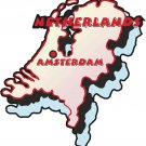 Netherlands Country Map Wall Decal