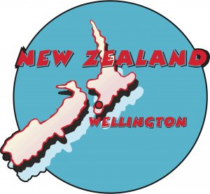 New Zealand Country Map Wall Decal
