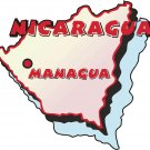 Nicaragua Country Map Wall Decal
