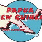 Papua New Guinea Country Map Wall Decal