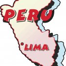 Peru Country Map Wall Decal
