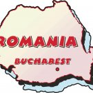 Romania Country Map Wall Decal